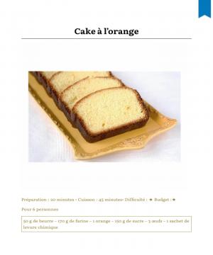 Cakes en dessert