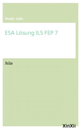 ESA Lösung ILS FEP 7