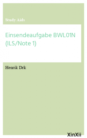 Einsendeaufgabe BWL01N (ILS/Note 1)