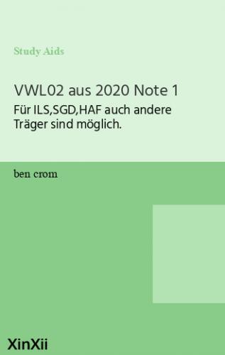 VWL02 aus 2020 Note 1