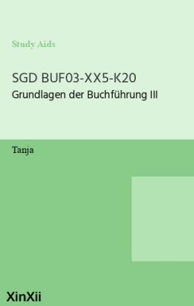 SGD BUF03-XX5-K20