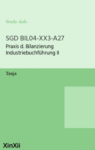 SGD BIL04-XX3-A27