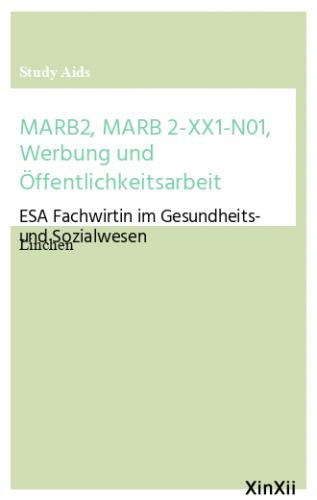 MARB2, MARB 2-XX1-N01, Werbung und Öffentlichkeitsarbeit