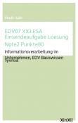 EDV07 XX3 ESA Einsendeaufgabe Loesung Note2 Punkte80