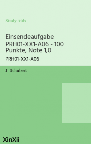 Einsendeaufgabe PRH01-XX1-A06 - 100 Punkte, Note 1,0