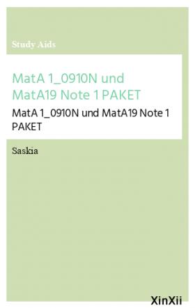 MatA 1_0910N und MatA19 Note 1 PAKET