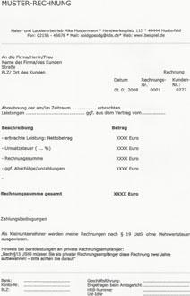 Musterrechnung Fur Kleinunternehmer Ebook By Anja Schmulowicz Xinxii Gd Publishing Ltd Co Kg