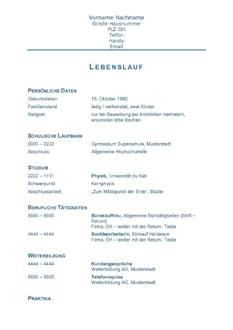 Lebenslauf Mit Deckblatt Mustervorlage Ebook By Anja